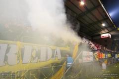 Tijdens NAC - SC Heerenveen hielden de Breda Loco's een actie, waarbij diverse spandoeken over de tribunes getoond werden.