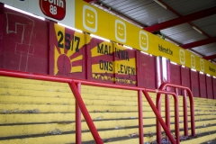 De laatste wedstrijd van de staantribune van Stadion Achter de Kazerne, Mechelen