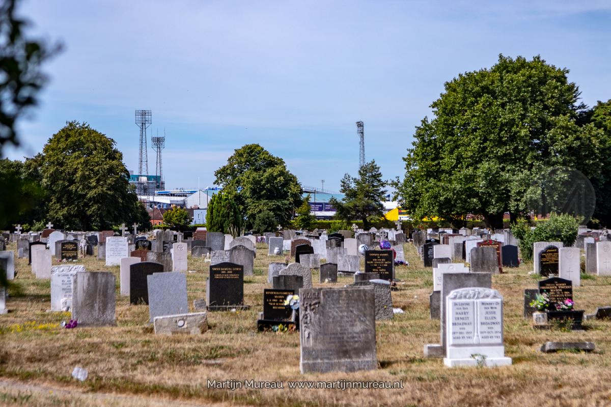 Fratton Park, vanaf de begraafplaats