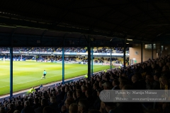 A packed West Stand is watching the game against Chesterfield