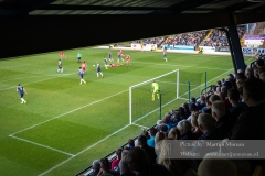 A view from the 2nd tier of Southend United's South Stand