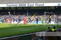 Attack of Chesterfield, with the wooden East Stand in the back