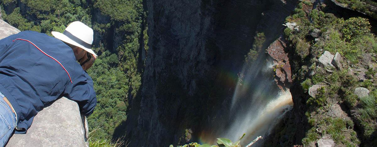 The Cachoeira da Fumaca in Chapada Diamantina, the highest waterfall in Brazil
