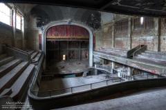 De prachtige binnenkant van Cinéma Theatre Varia