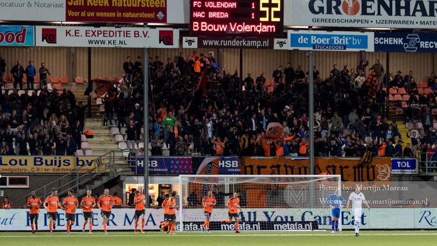 Volendam-fans zijn uitzinnig na de 1-1