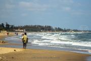 Beach life in Mahabalipuram