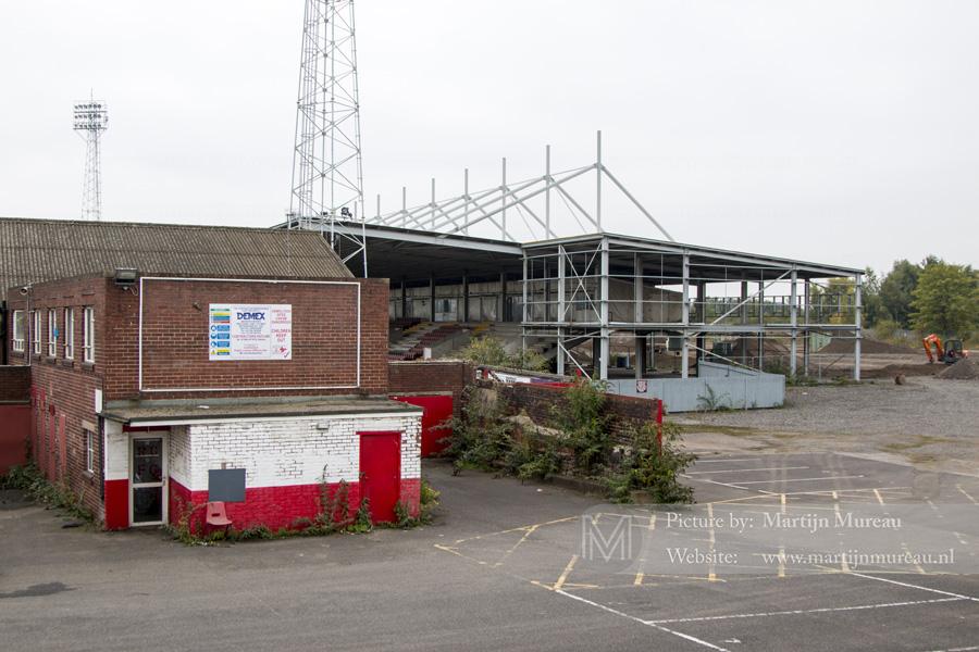 Een triest uitzicht op het oude stadion van Rotherham United