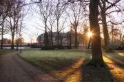 De tuinen van de Westfälische Wilhelms-Universität Münster