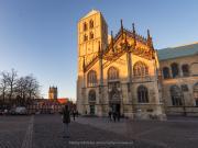 St. Paulus-Dom tijdens zonsondergang