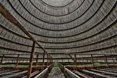 De binnenkant van koeltoren Power Plant IM