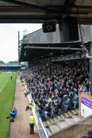 The old and iconic East Stand of Roots Hall