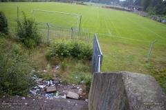 """The abandonned stadium """"Stadion aan de Kastanjelaan"""", former ground of Patro Eisden"""