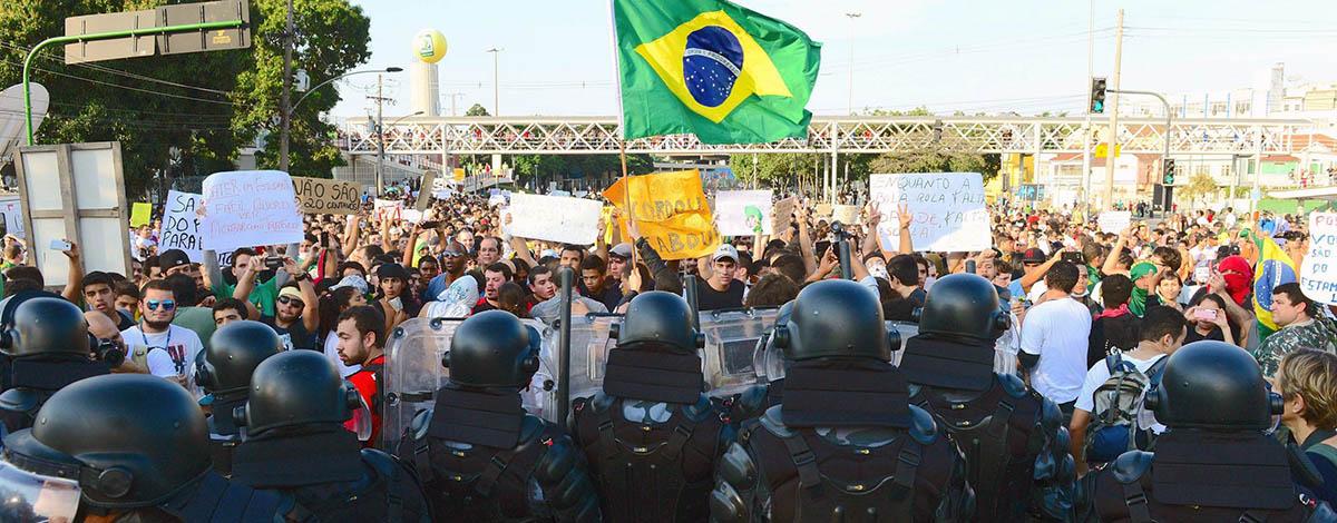 Protesten tegen het WK 2014 in Brazilië